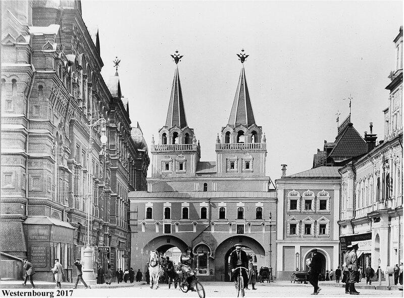 Москва, Красная пл., Воскресенские ворота. 1900-15