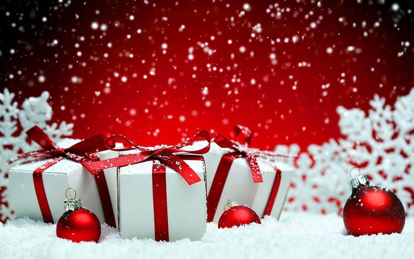 Новый год, фоны, новогодние подарки