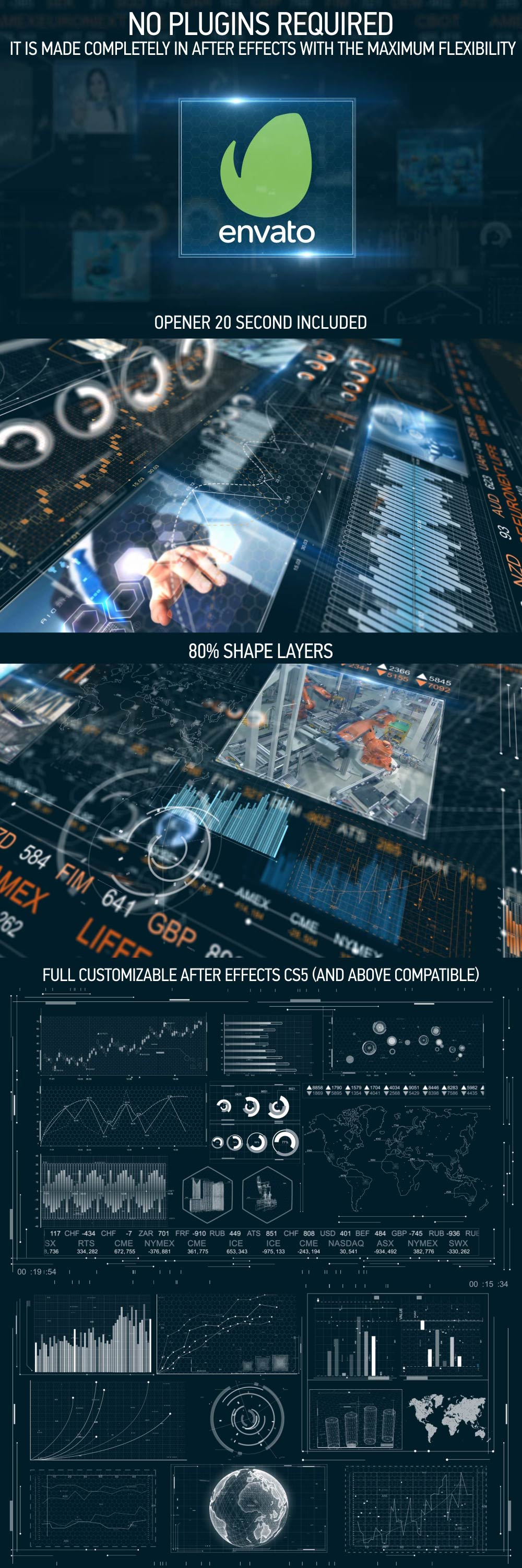 Download Videohive Corporate Finance HUD Pack and Opener » free ...