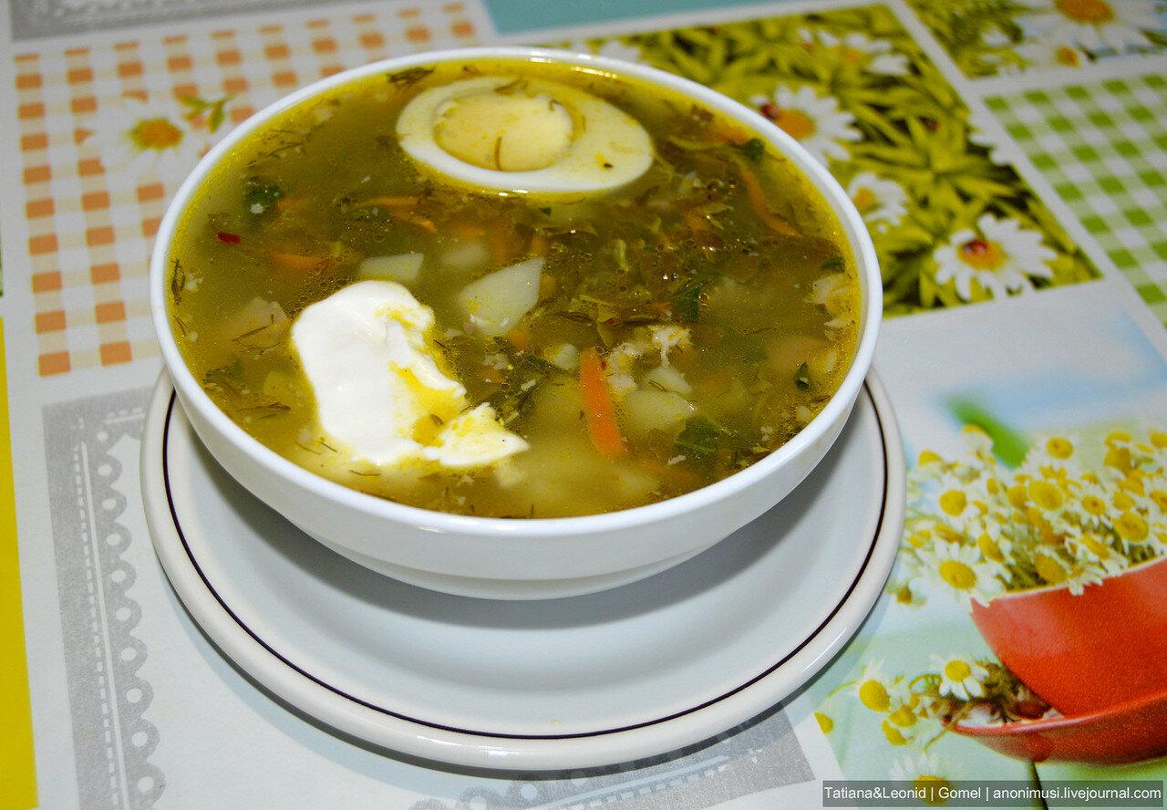Суп со щавелем и крапивой