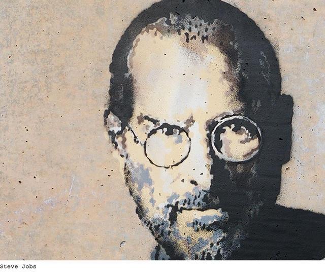 Бэнкси использовал изображение Стива Джобса, как напоминание о том, что иммигранты могут принести ог