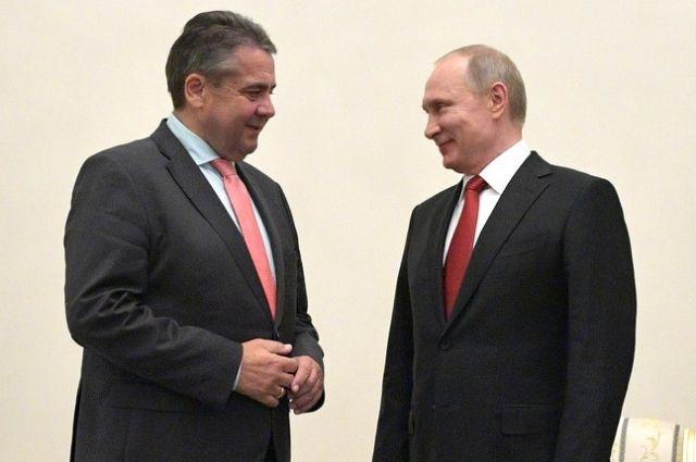 Путин провел переговоры сглавой МИД ФРГ