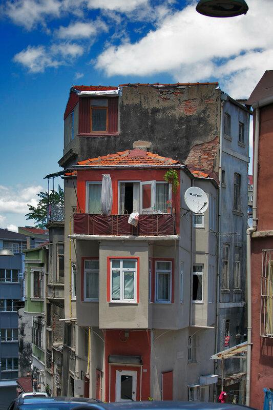 Old house in municipality of Belediye in Istanbul.