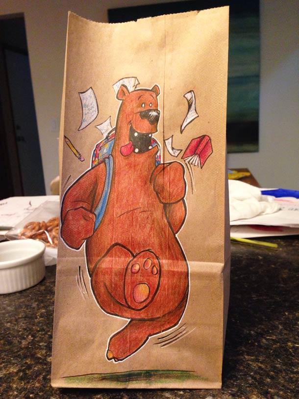Bag Dad - Quand un papa creatif dessine tous les jours sur le Lunch Bag de son fils…