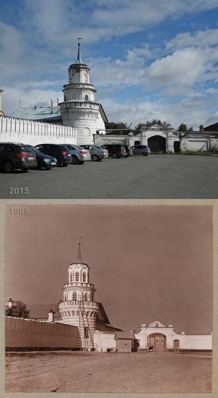 Одна из угловых башен ограды Верхотурского монастыря.
