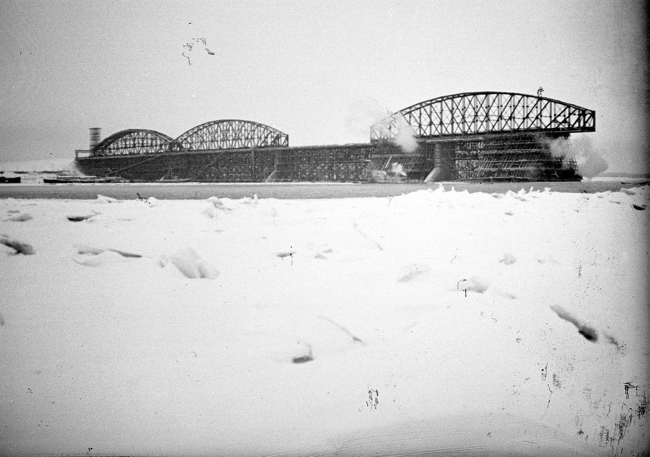 Строительство Романовского Моста. Нижние Вязовые