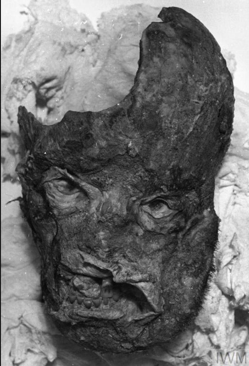 Мумифицированный череп одного из убитых офицеров