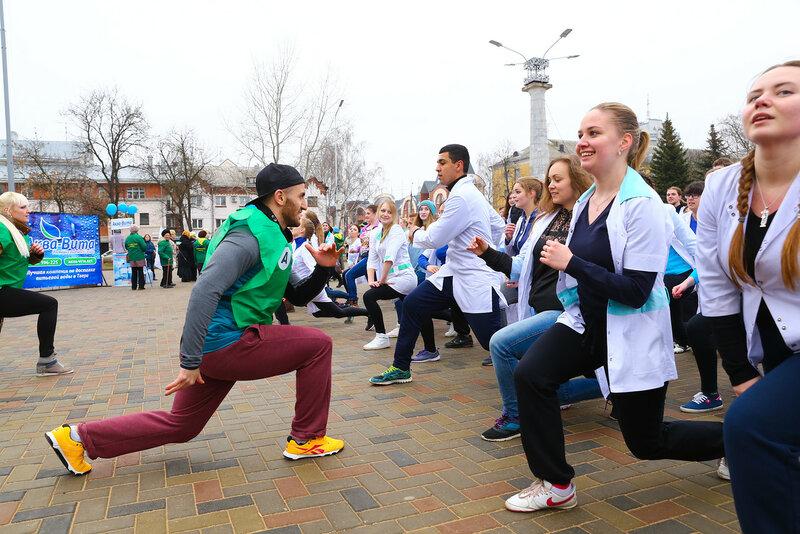 молодежный флешмоб в честь Всемирного Дня здоровья
