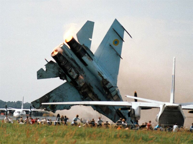2002 Air show disaster An SU-27 fighter crashes into a crowd July 27 at an air show in Lviv, Ukraine, killing 83 people..jpg