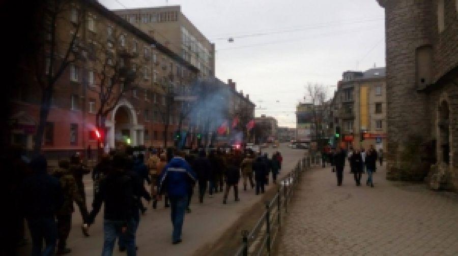 """""""ПС"""" Тернопольщины с соратниками провели акцию против произвола мигрантов"""