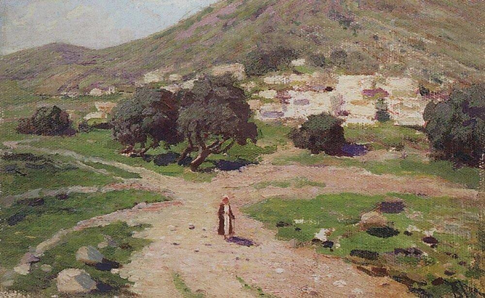 У подножия горы. 1890-1909.jpg