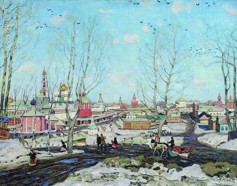 1911 Весна в Троицкой лавре. Холст, масло. 70.5x90. ГРМ.jpg