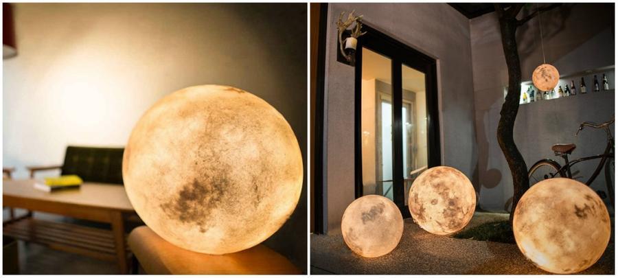 6. Лампа «Луна» Вот такая оригинальная лампа в виде луны создаст в доме атмосферу уюта.