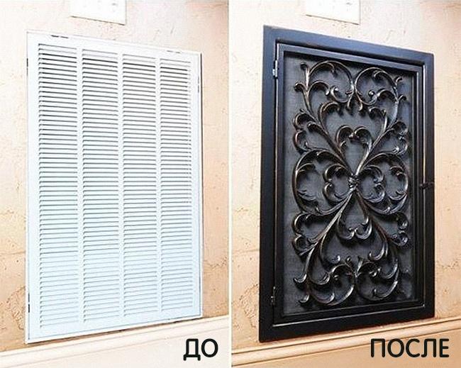 Декоративная решетка для вентиляции выглядит куда выигрышнее, нетакли?