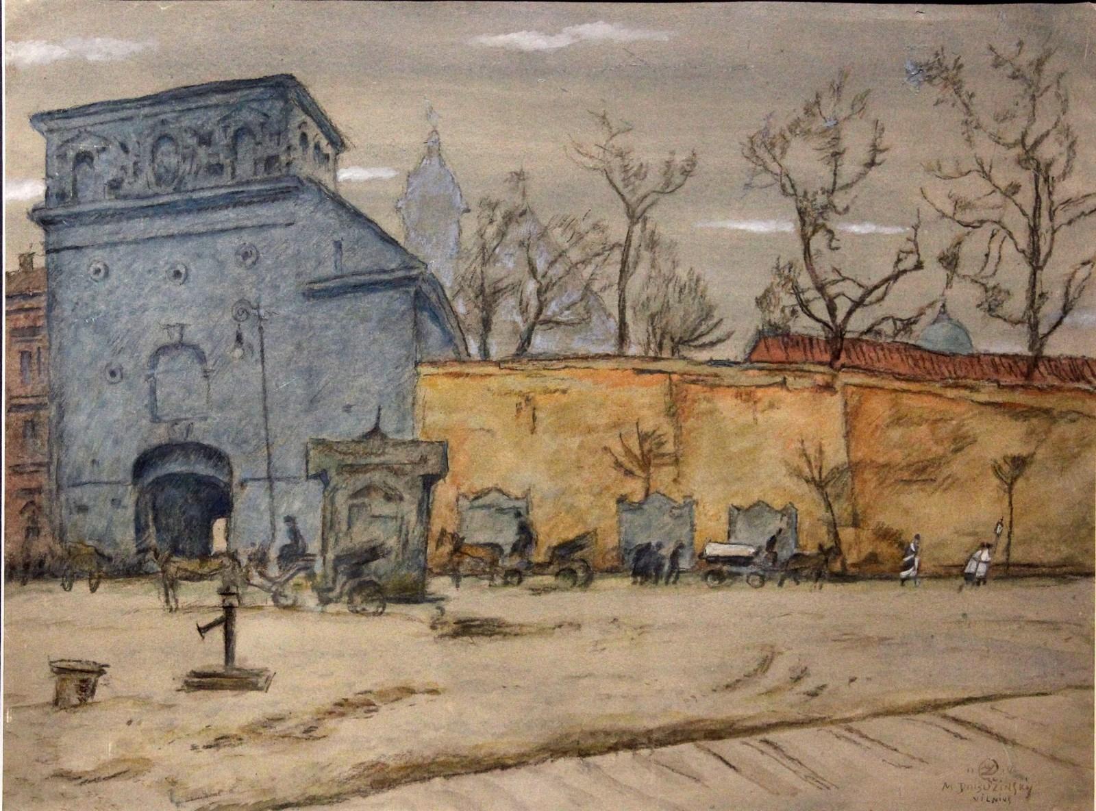 Добужинский М.В. 1875-1957 Вильно (Вильнюс). 1914 Бумага, смешанная техника Из частной коллекции (Минск)