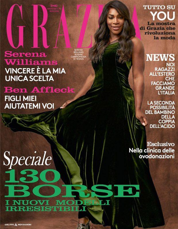 Serena Williams Stars in Grazia Italia Latest Cover Story