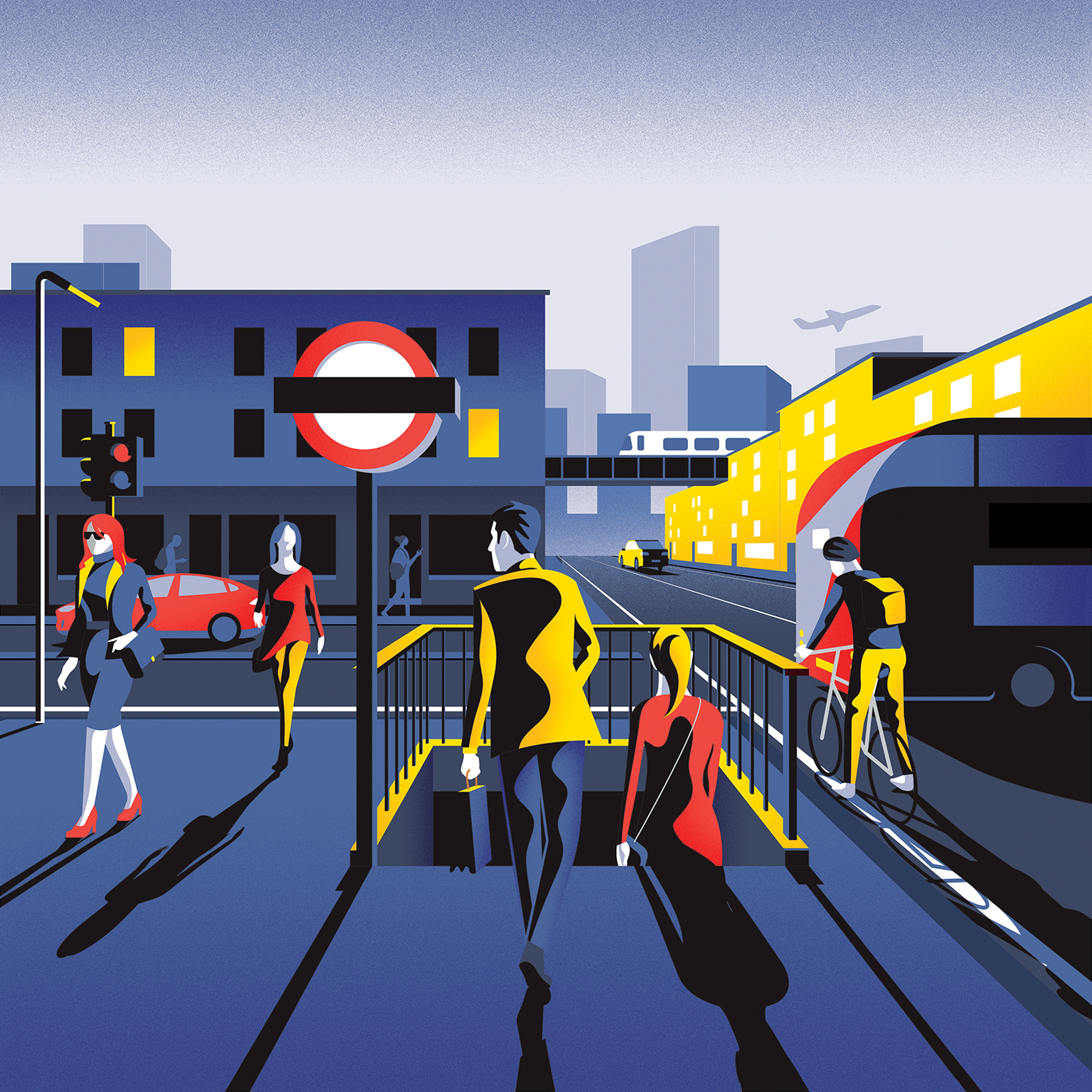 Colorful Illustrations in London