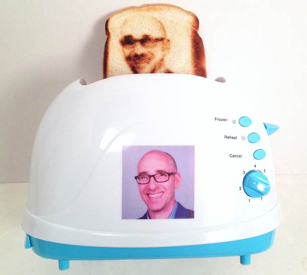 Selfie Toast – Have your selfie grilled on a slice of bread! (6 pics)
