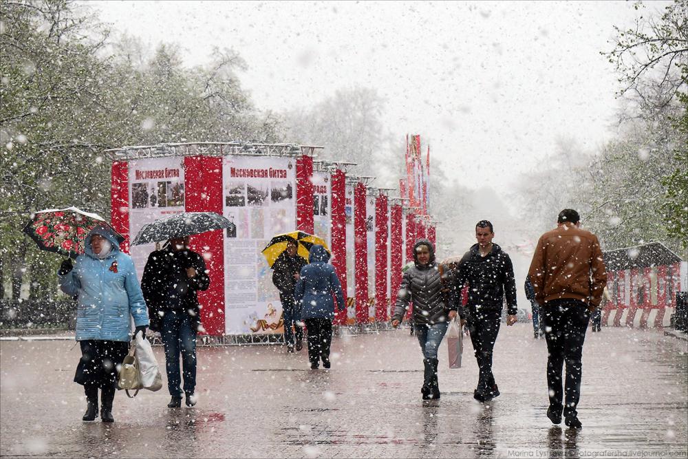 Снегодождь в Москве
