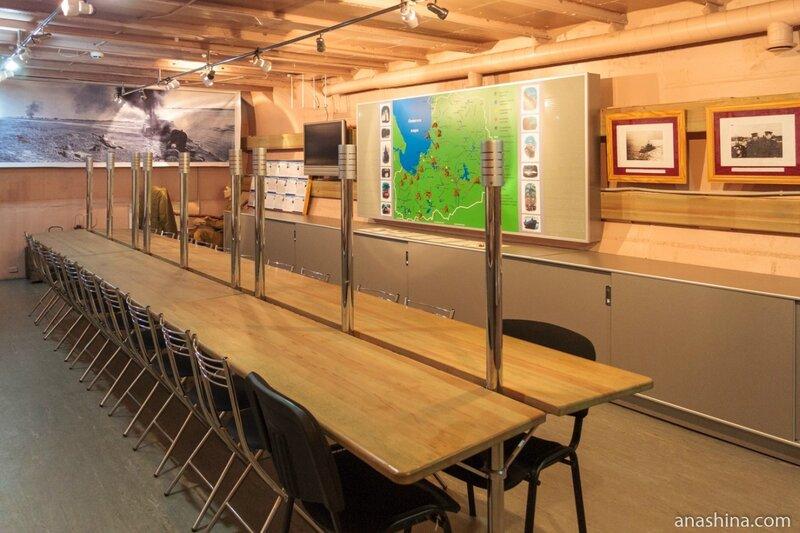 Экспозиция музея внутри подводной лодки, Подводная лодка Б-440, Вытегра