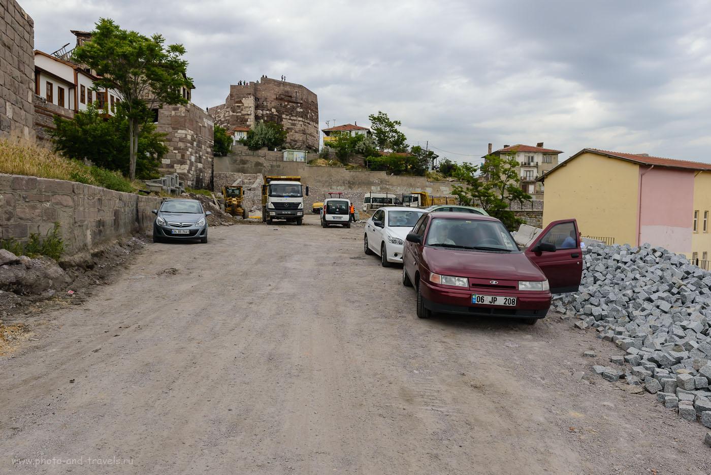 Фото 20. Древний замок в Анкаре. На его территории есть несколько гостиниц, а на крепостную стену можно забраться, чтобы осмотреть живописные окрестности. Отчеты туристов о поездке в столицу из Стамбула во время путешествия по Турции. 1/250, 8.0, 400, 24.