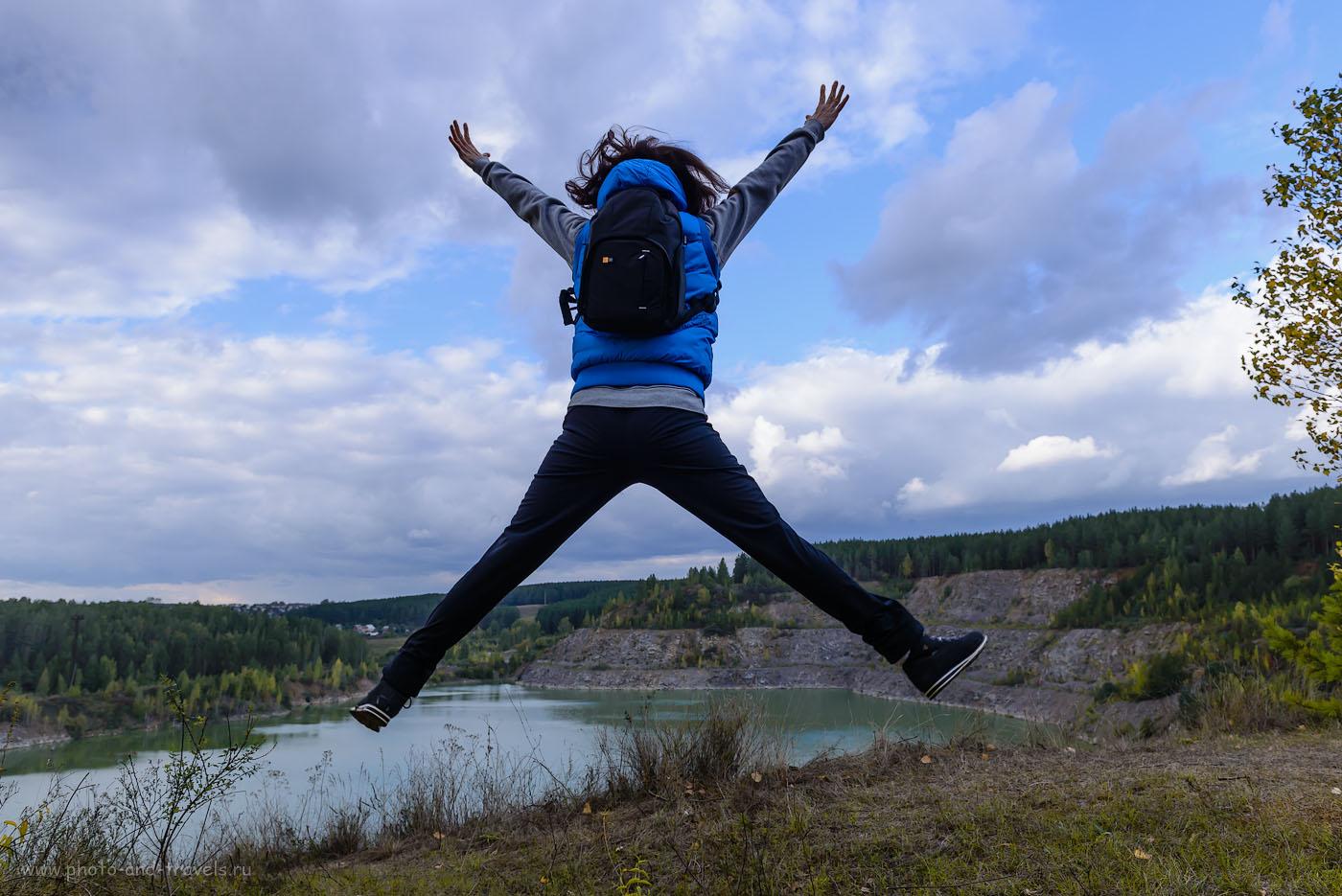 Снимок 8. Прыгать с сумкой для фотоаппарата было бы менее комфортно