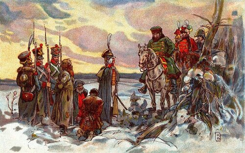 Александр АПСИТ . Наполеон приговаривает к расстрелу партизан.jpg
