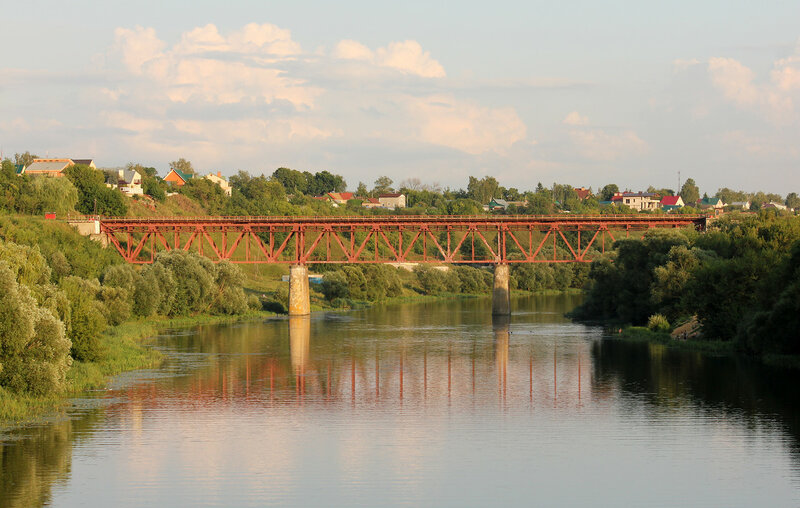 Мост через реку Ока на станции Кромская