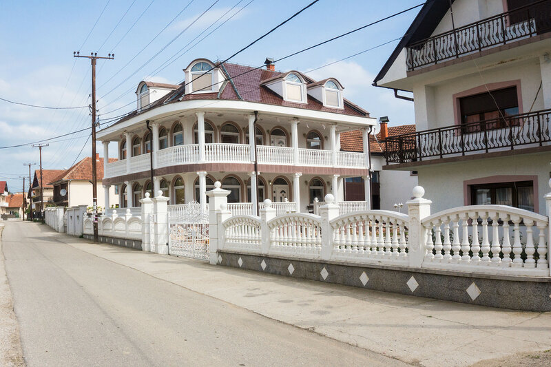 румынские или цыганские деревни возле дуная в сербии