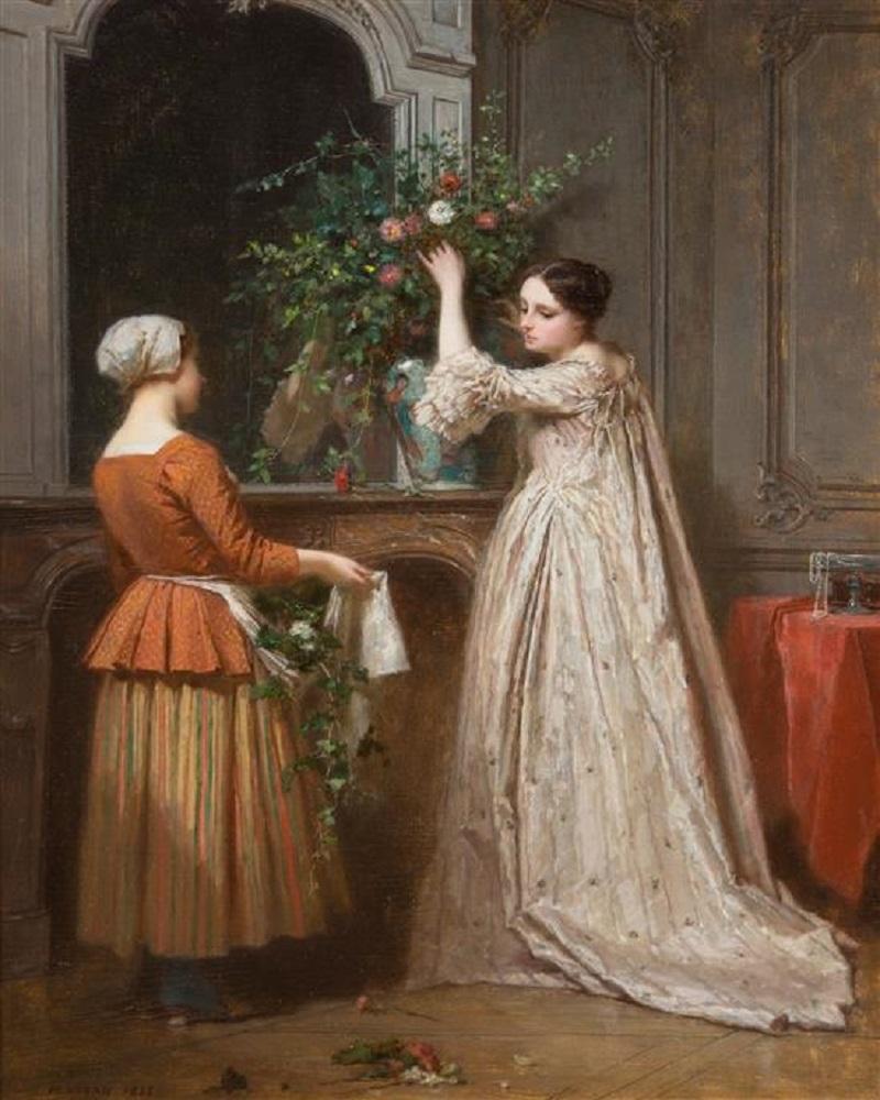 Antoine Emile Plassan<br /> Arranging the Bouquet