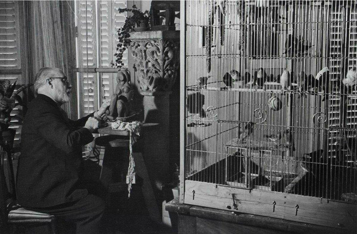 1934. Анри Матисс ваяeт в своей квартире на бульваре дю Монпарнас, 132