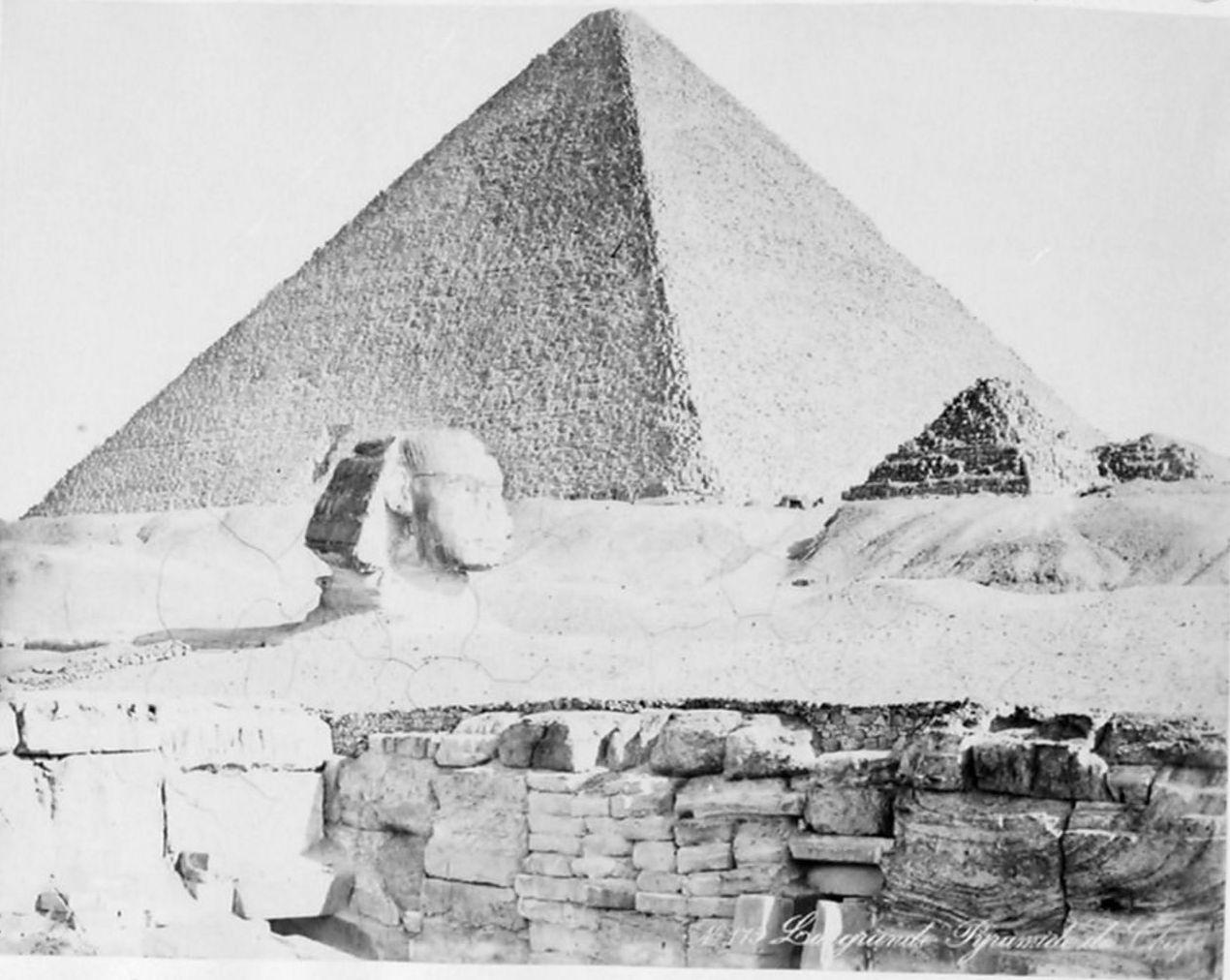 Гиза. Сфинкс и Великая пирамида. 1893