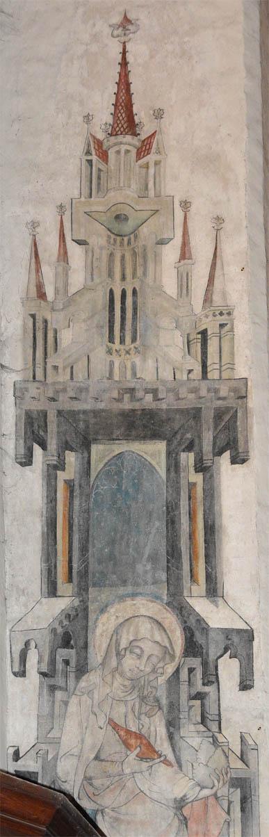 Архитектурные фантазии на фресках из Костёла Успения Марии в Торуни, Польша