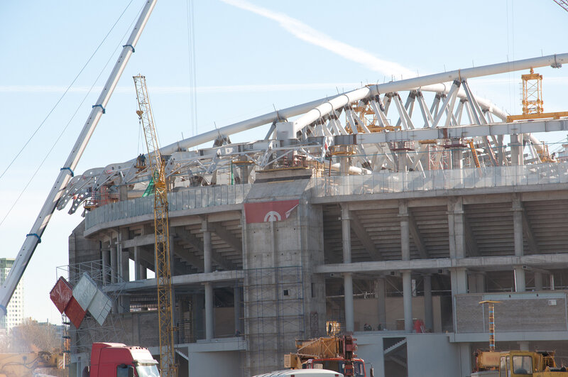 Строительство стадиона «Спартак». Октябрь 2013 (Фото)
