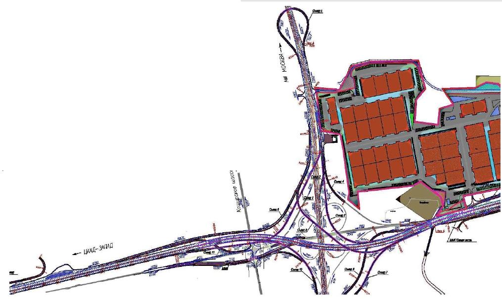 А133 ЦКАД А-133 Московская область проект первый пусковой комплекс первый строительный участок развязка М-4 ДОН 96 км
