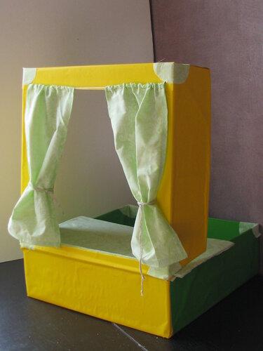 Как сделать сцену из коробки