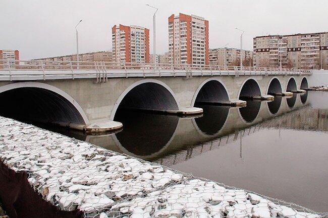 Мост через Миасс у поселка Мелькомбината (за Родником) (25.09.2013)