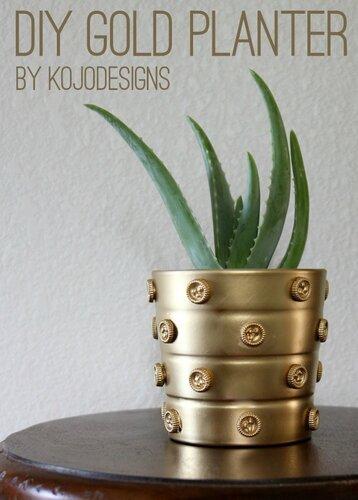 Декорирование вазона