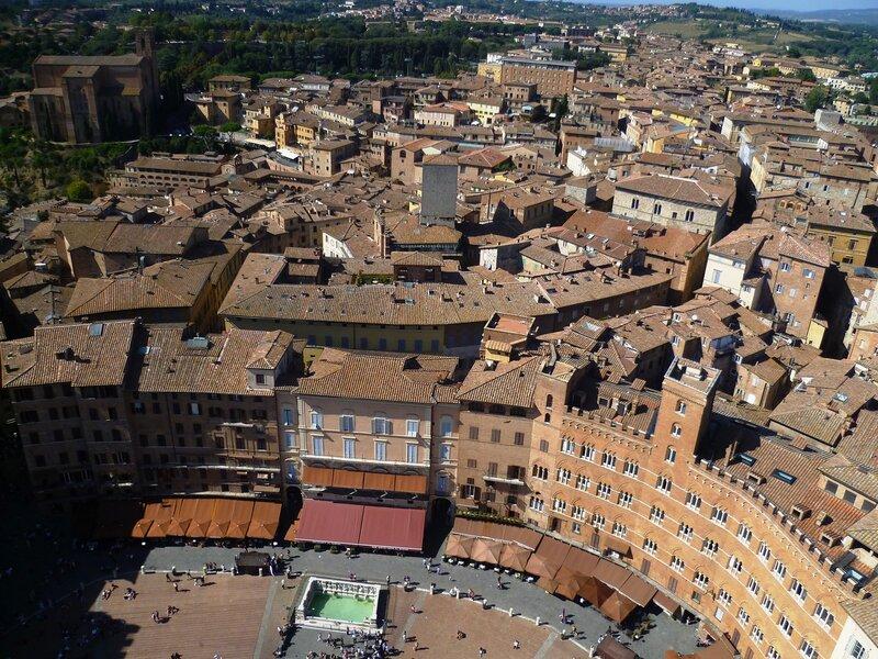 Италия. Сиена. Вид на город (Italy. Siena. View of the city).