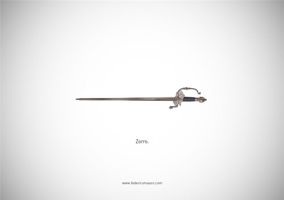 Знаменитые клинки, ножи и тесаки культовых персонажей / Famous Blades by Federico Mauro - Zorro