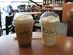 Starbucks, охлажденный кофейный коктейль