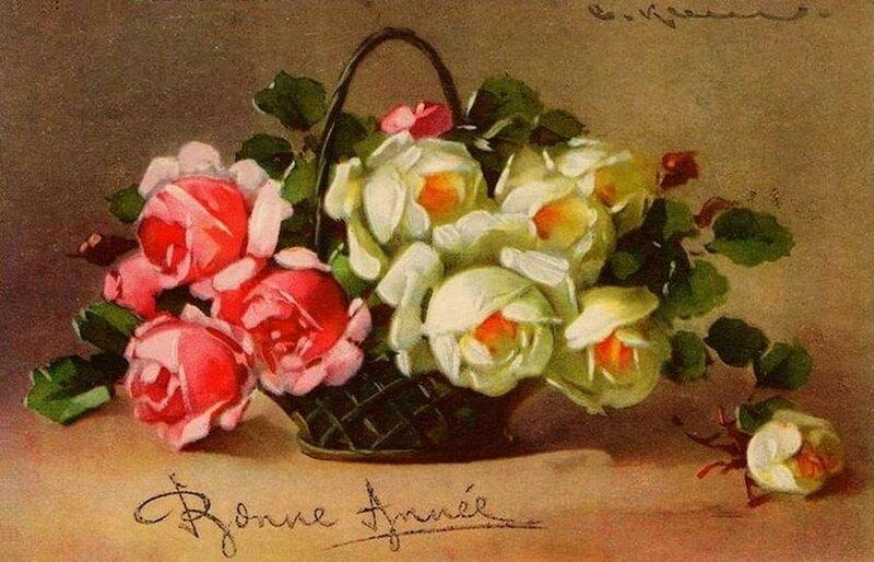 К. Кляйн. 146. Розы. Сновым годом !