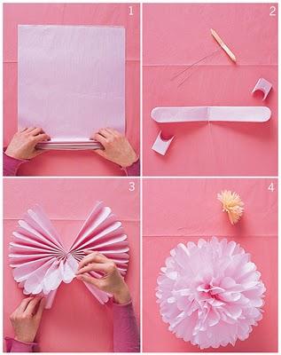 Цветы из бумаги мастер-класс