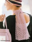 Описание: крючком шарф.  Схема вязания.  - Схемы.