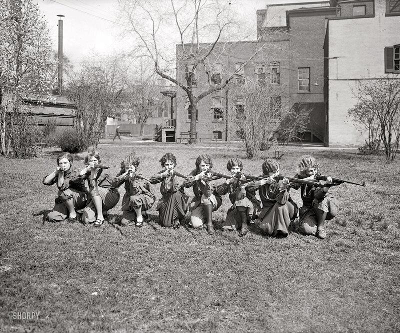 1925. Girls' rifle team, University of Maryland