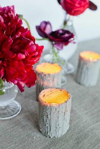 Дизайнерские свечи из бетона своими руками