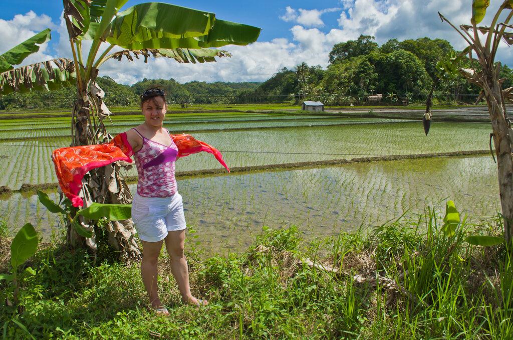 А вот так, видимо, выглядело это поле весной. Данная фотка снята на острове Бохоль на Филиппинах