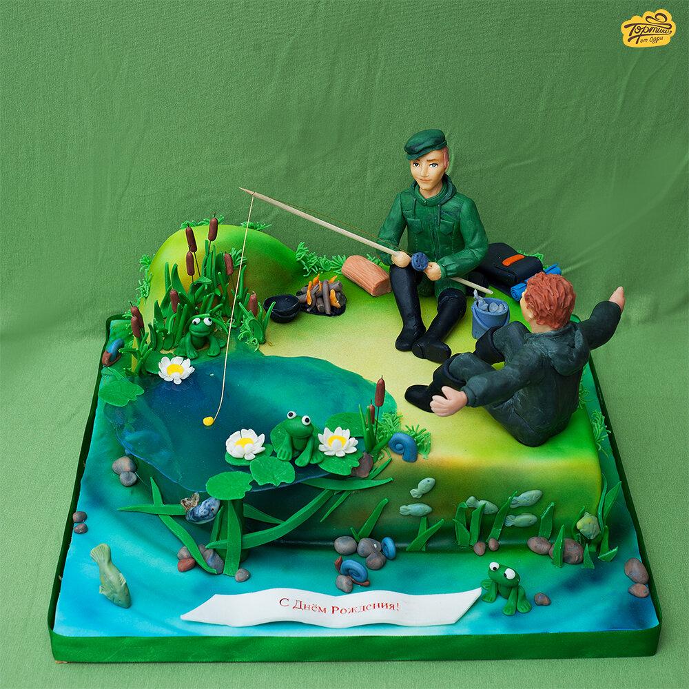 торты для рыбака на день рождения фото говорил одним