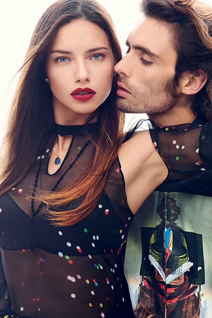 Адриана Лима и Тайсон Риттер / Adriana Lima & Tyson Ritter - Romeo & Juliet by Max von Gumppenberg & Patrick Bienert in Harper's Bazaar US november 2013