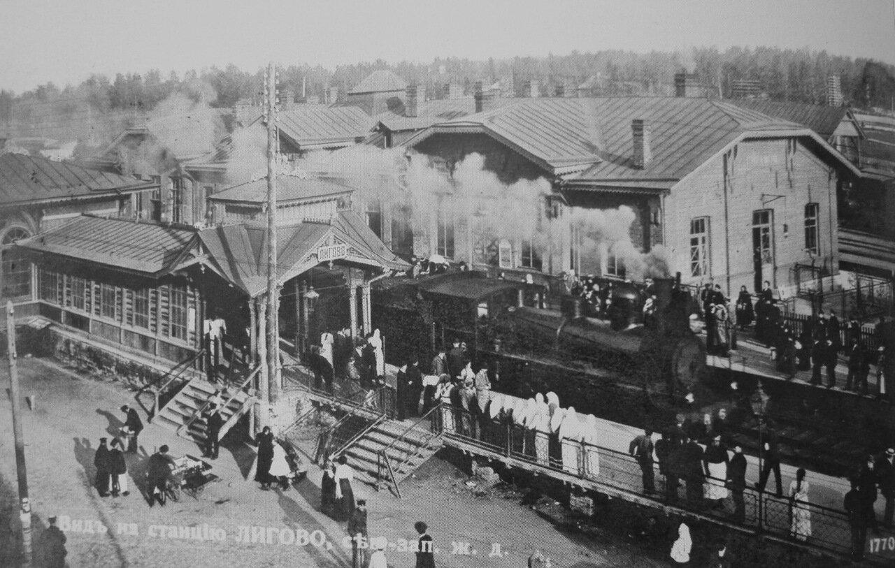 Вид на станцию Лигово